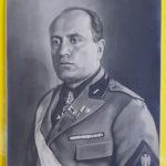Mussolini signed photo autografo