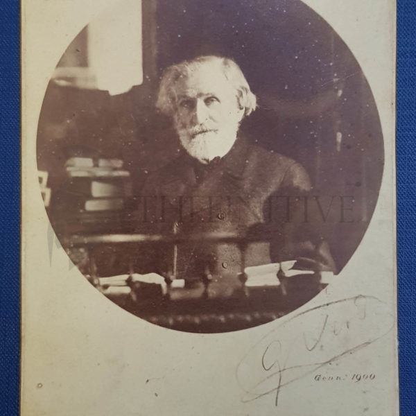 Giuseppe Verdi foto autografo