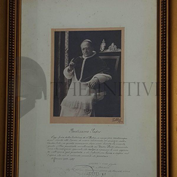 pio xi papa autografo