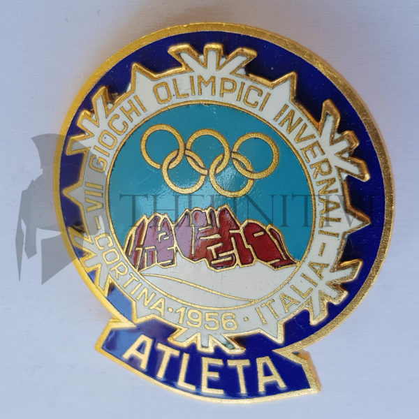 Cortina 1956 Olimpiadi badge