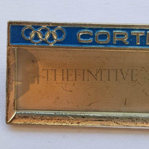 cortina 1956 olimpiadi targhetta