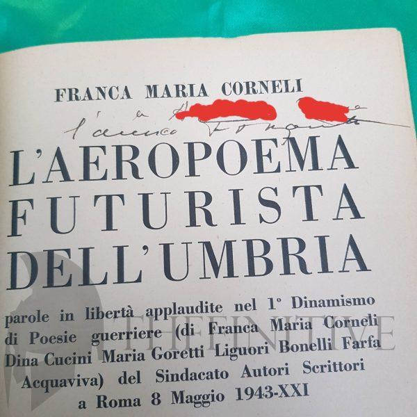 marinetti autografo futurismo libro