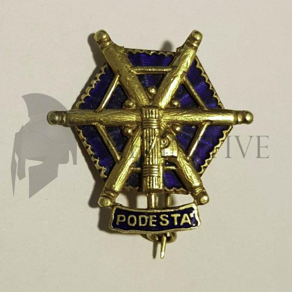 distintivo oro podestà fascista