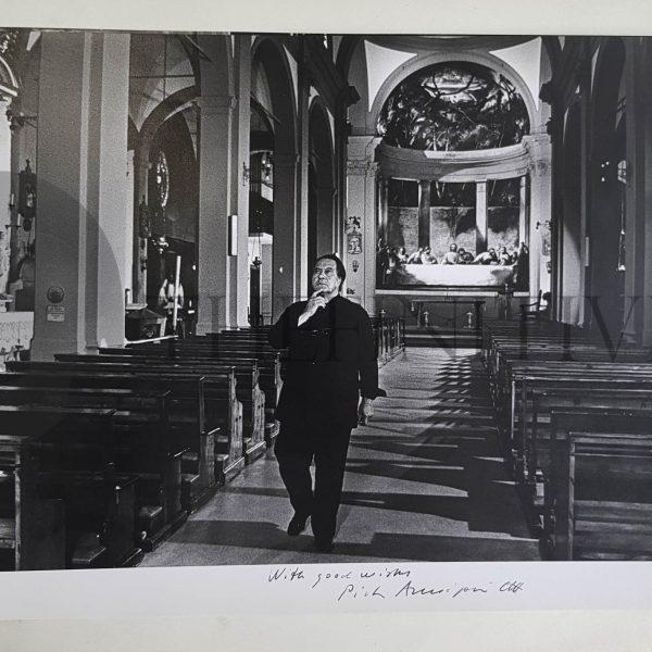 Pietro Annigoni fotografia Autografa