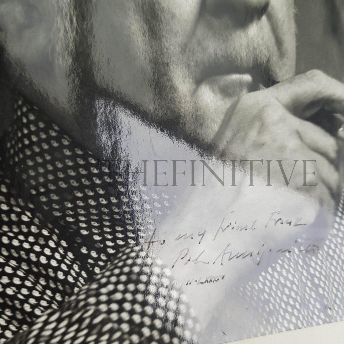 Annigoni fotografia ritratto Autografo