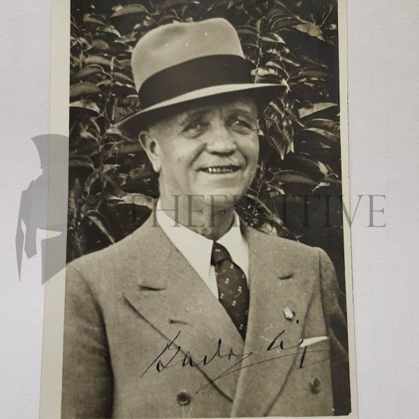 badoglio maresciallo italia autografo