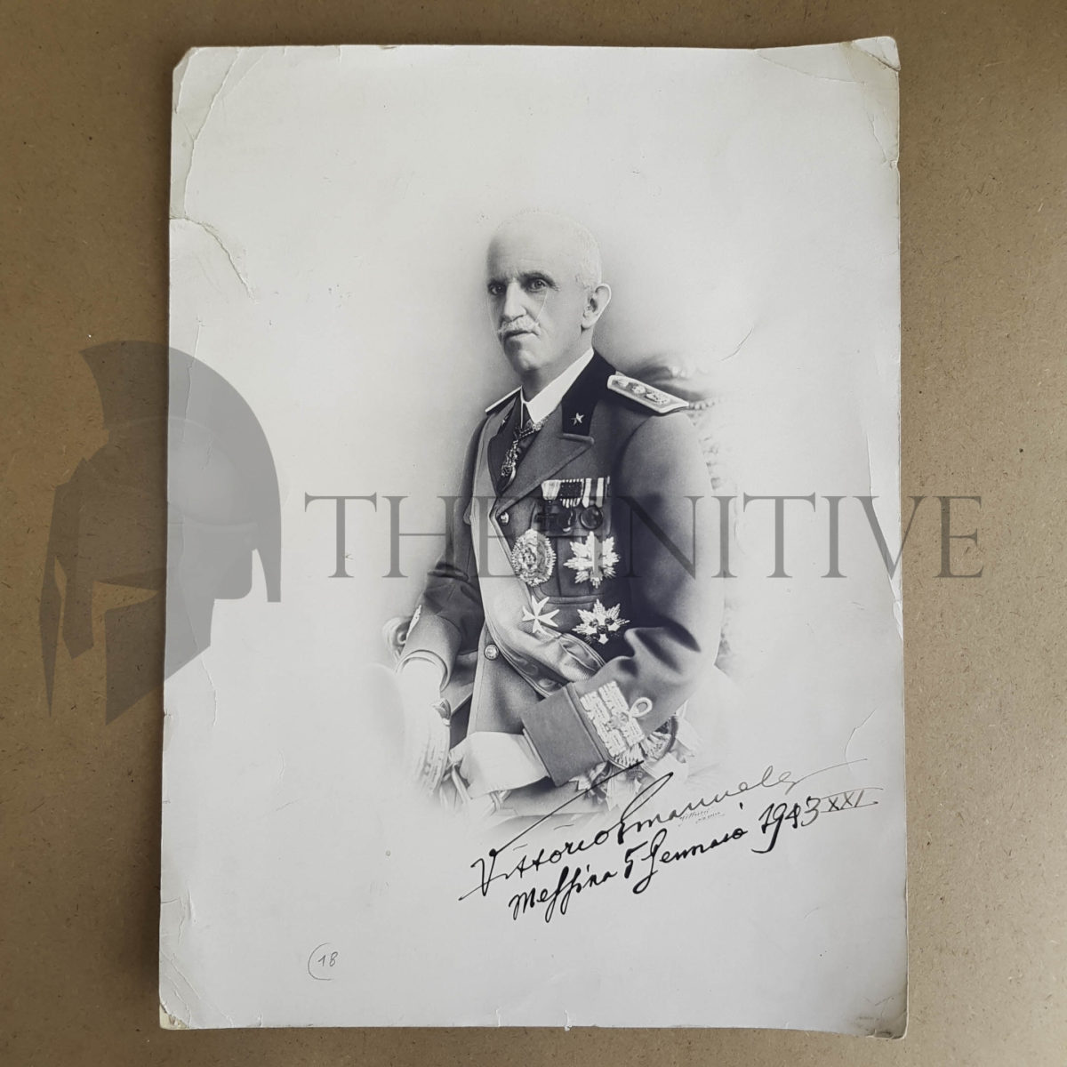 Vittorio Emanuele III autografo