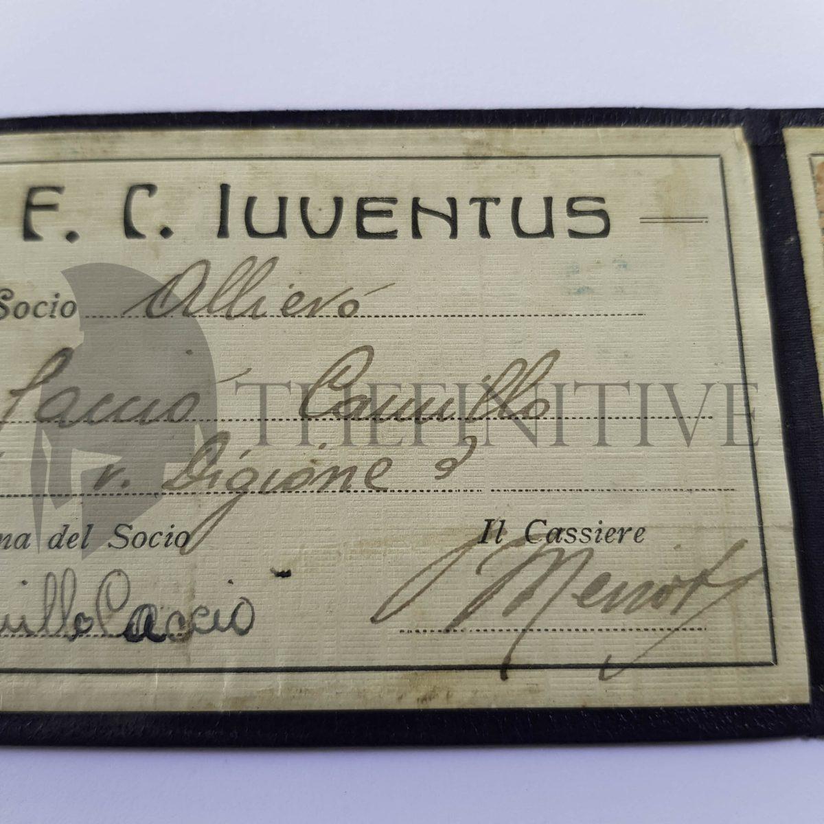 FC JUVENTUS Calcio Tessera