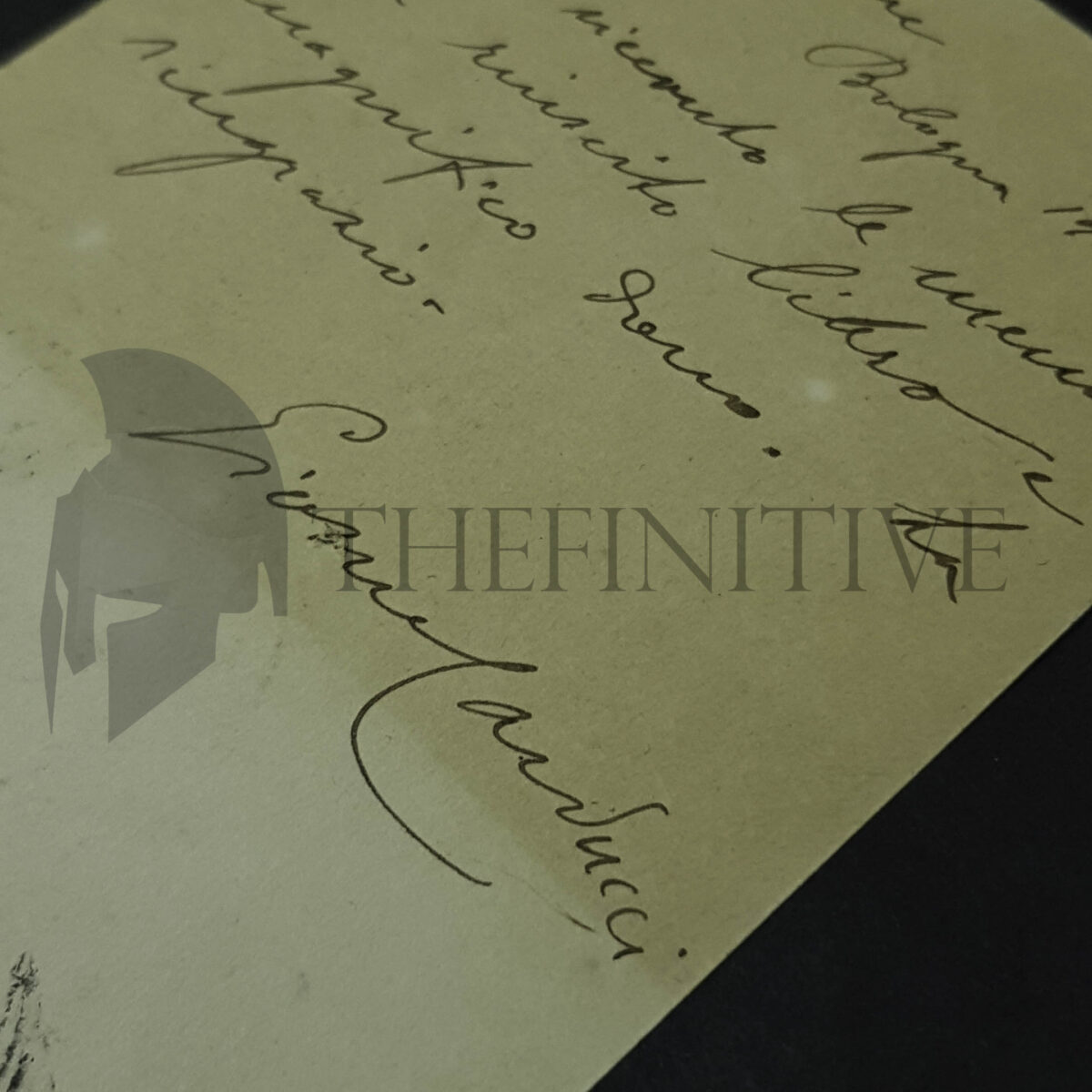 Giosuè Carducci cartolina autografata