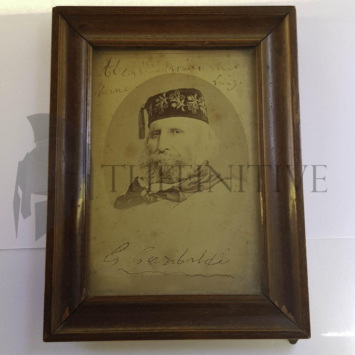 Giuseppe Garibaldi foto autografata