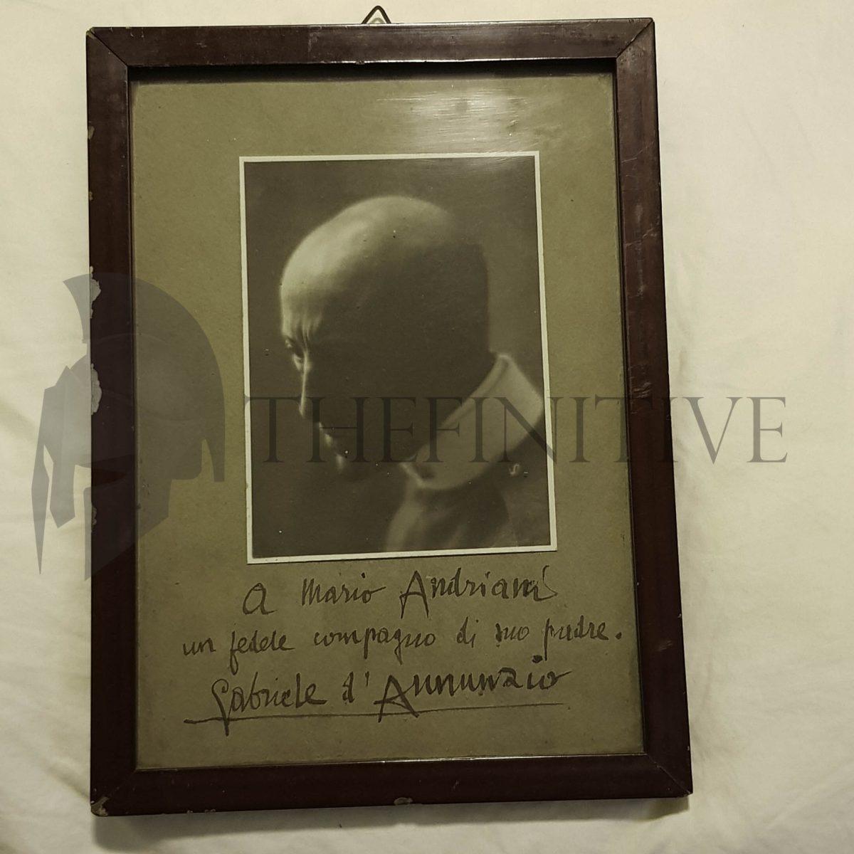 Gabriele d'Annunzio Dedica Autografata