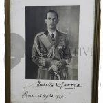 Umberto II foto autografa